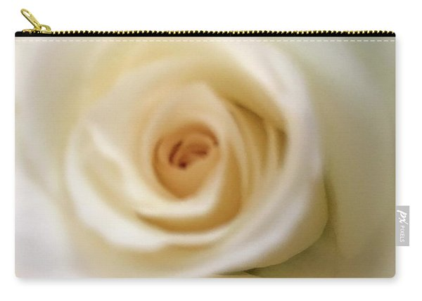 Barely White Rose Carry-all Pouch