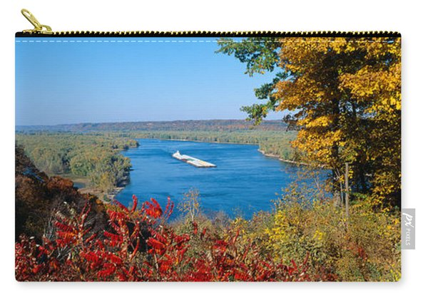 Barge On Mississippi River In Autumn Carry-all Pouch