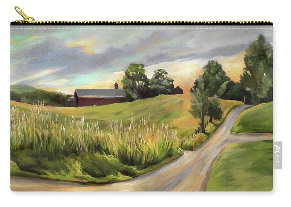 Barn On The Ridge In West Newbury Vermont Carry-all Pouch