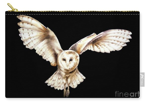 Barn Owl In Flight Carry-all Pouch