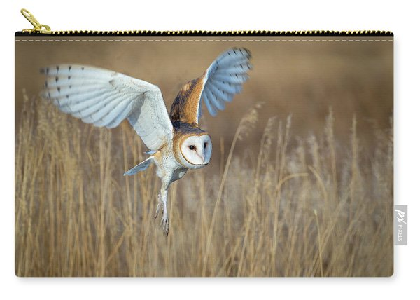 Barn Owl In Grass Carry-all Pouch