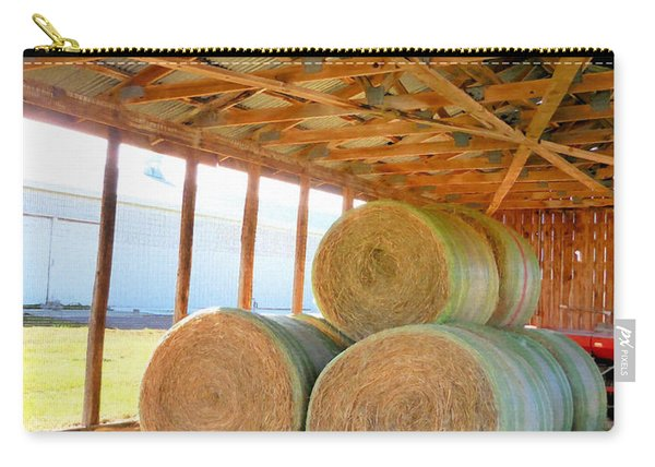 Barn With Hay 4 Carry-all Pouch