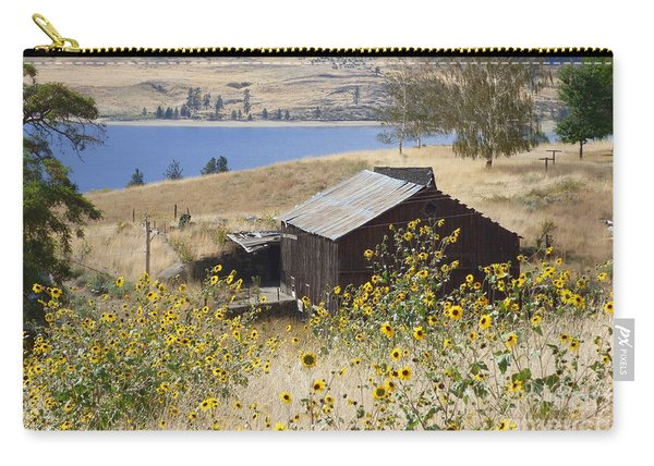 Barn With Sunflowers Carry-all Pouch