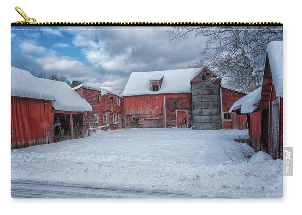 Carry-all Pouch featuring the photograph Barns In Winter II by Tom Singleton