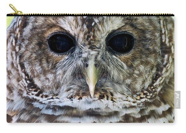 Barred Owl Closeup Carry-all Pouch