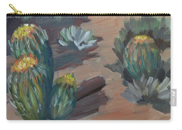 Barrel Cactus At Tortilla Flat Carry-all Pouch