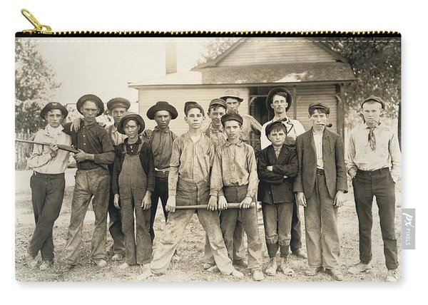 Baseball Team Composed Mostly Of Child Laborers From A Glassmaking Factory. Indiana 1908, Lewis Hi Carry-all Pouch