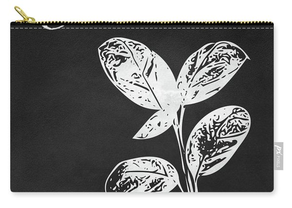 Basil Black And White- Art By Linda Woods Carry-all Pouch