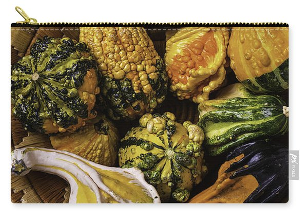 Basket Full Of Autumn Gourds Carry-all Pouch