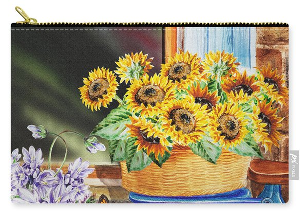 Basket Full Of Sunflowers Carry-all Pouch