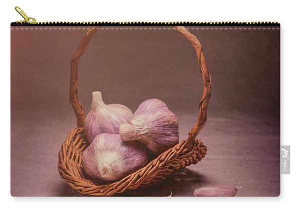 Basket Of Garlic Still Life Carry-all Pouch