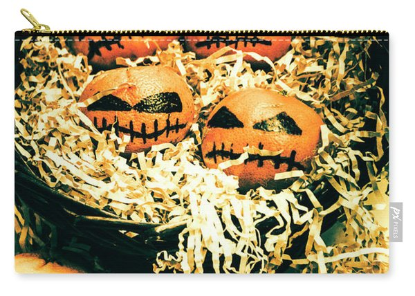 Basket Of Little Halloween Horrors Carry-all Pouch