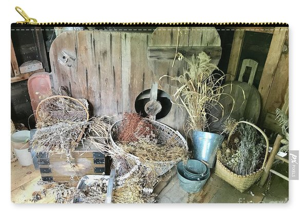 Baskets And Herbs Carry-all Pouch