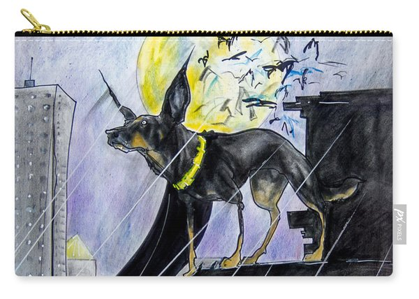 Bat-dog Caricature  Carry-all Pouch