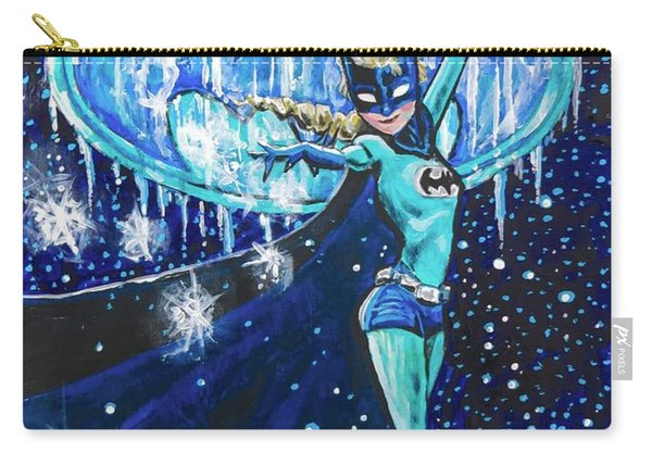 Carry-all Pouch featuring the painting Bat Elsa by Joel Tesch
