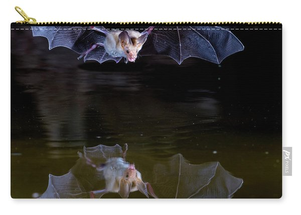 Bat Flying Over Pond Carry-all Pouch