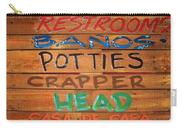 Bathroom Sign Carry-all Pouch