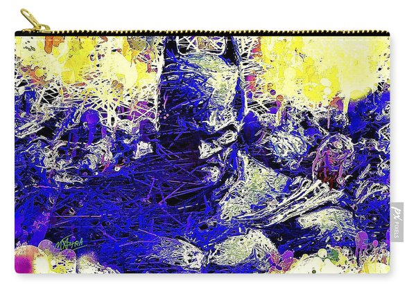 Carry-all Pouch featuring the mixed media Batman 2 by Al Matra