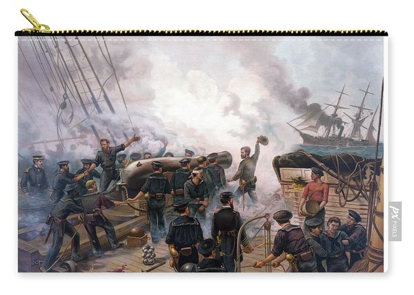 Battle Between Kearsarge And Alabama Carry-all Pouch