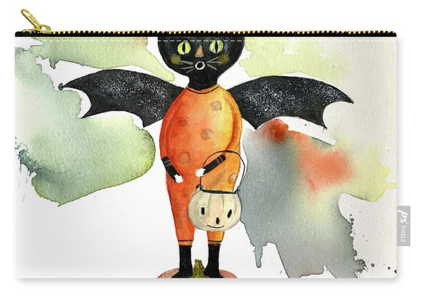 Batty Vintage Cat  Carry-all Pouch
