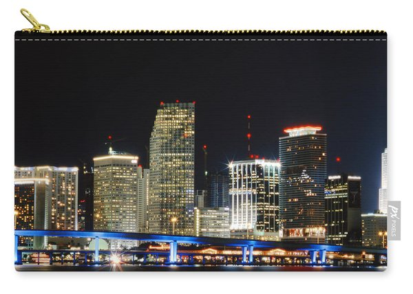 Bay Front Miami Skyline Carry-all Pouch