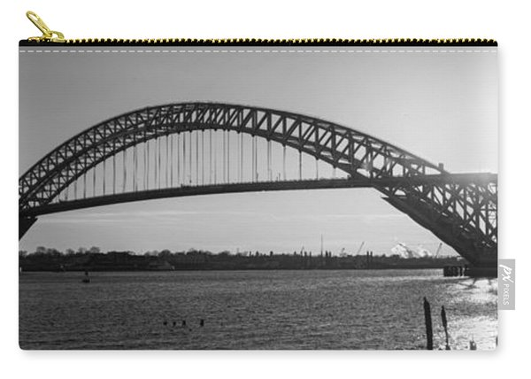 Bayonne Bridge Panorama Bw Carry-all Pouch