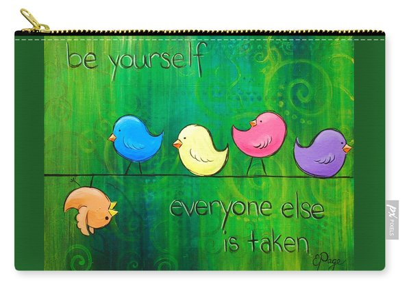 Be Yourself - Birds Carry-all Pouch
