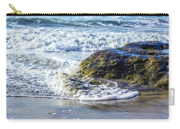 Wave Around A Rock Carry-all Pouch