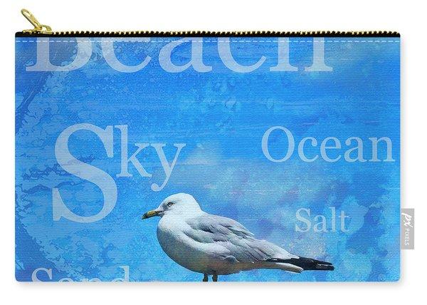 Beach Art Seagull By Sharon Cummings Carry-all Pouch