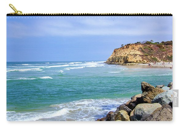 Beach At Del Mar, California Carry-all Pouch