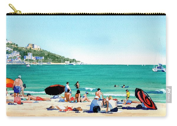Beach At Roses, Spain Carry-all Pouch