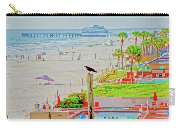 Beach Bird On A Pole Carry-all Pouch