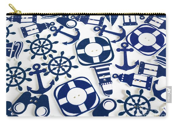 Beach Blue Background Carry-all Pouch