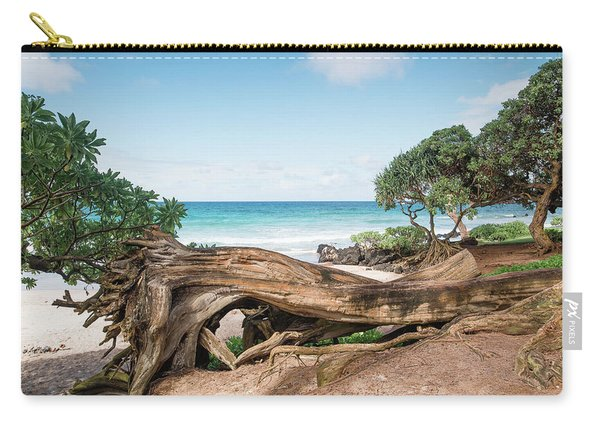Carry-all Pouch featuring the photograph Beach Camping by Break The Silhouette