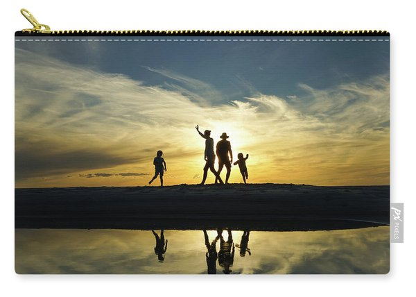 Beach Dancing At Sunset Carry-all Pouch