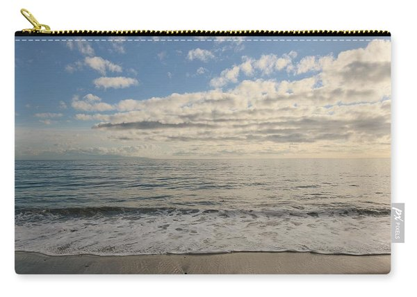 Carry-all Pouch featuring the photograph Beach Day - 2 by Christy Pooschke