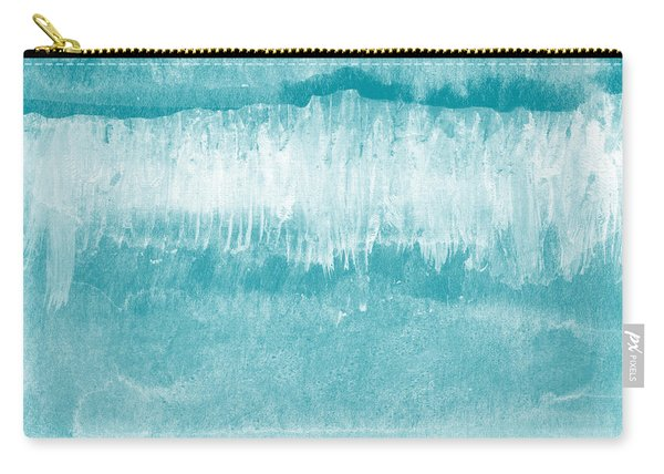 Beach Day Blue- Art By Linda Woods Carry-all Pouch