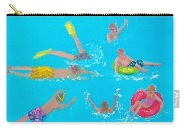 Beach Decor 'holiday Splash' By Jan Matson Carry-all Pouch