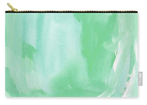 Beach Glass Blues Abstract- Art By Linda Woods Carry-all Pouch