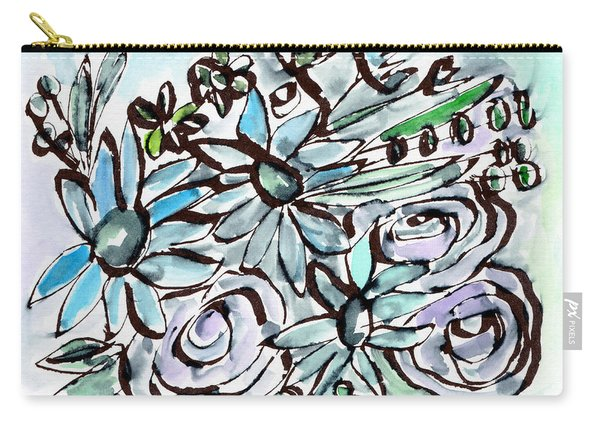 Beach Glass Flowers 2- Art By Linda Woods Carry-all Pouch