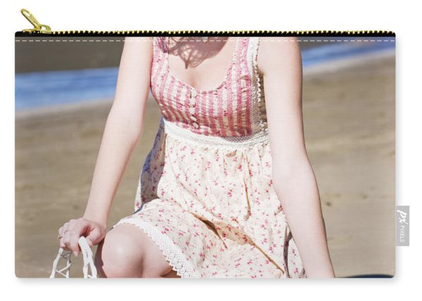 Beach Holiday Woman Carry-all Pouch