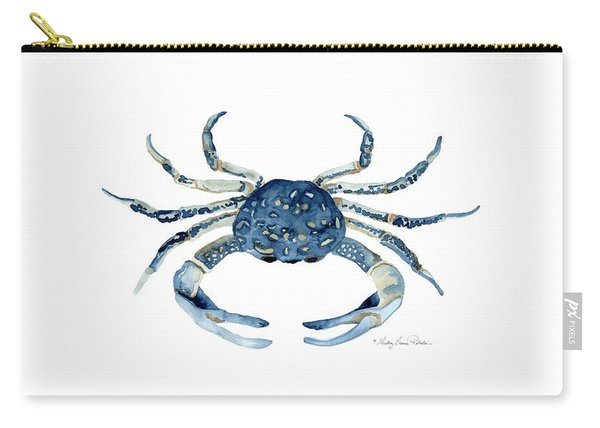 Beach House Sea Life Blue Crab Carry-all Pouch