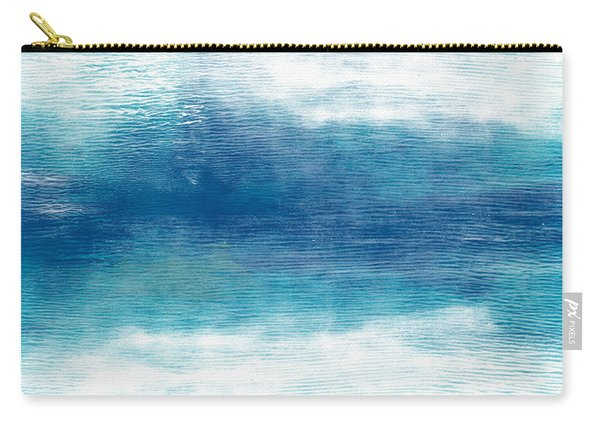 Beach Mood 2- Abstract Art By Linda Woods Carry-all Pouch