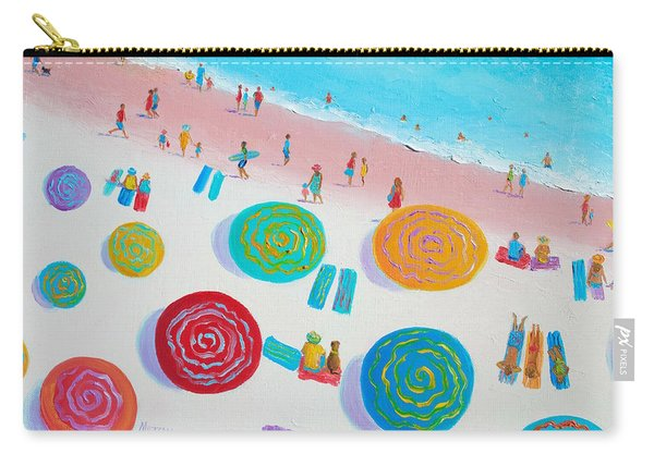 Beach Painting - A Walk In The Sun Carry-all Pouch