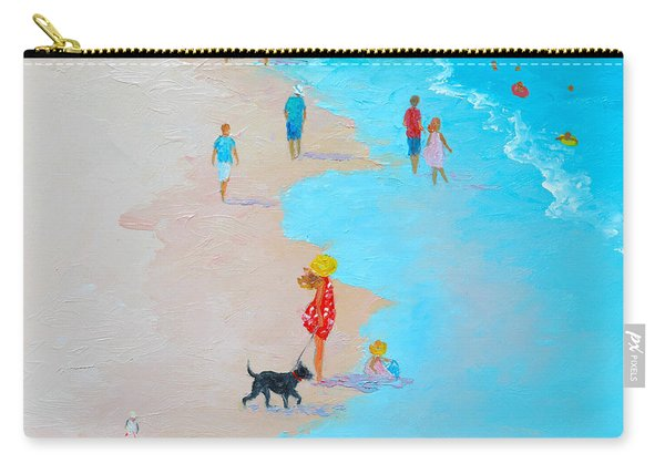 Beach Painting - Beach Day - By Jan Matson Carry-all Pouch