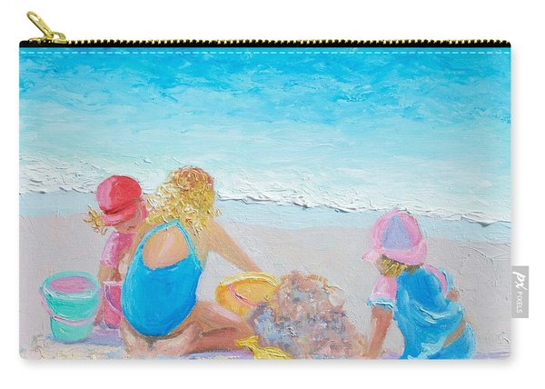 Beach Painting - Building Sandcastles Carry-all Pouch