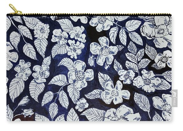 Beach Rose Pattern Carry-all Pouch