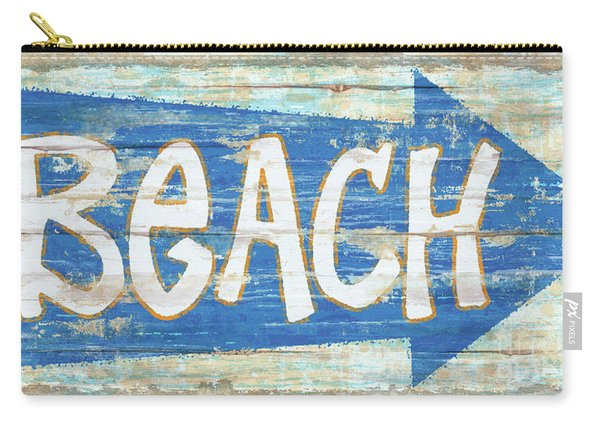 Beach Sign Carry-all Pouch
