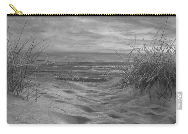 Beach Time Serenade - Black And White Carry-all Pouch
