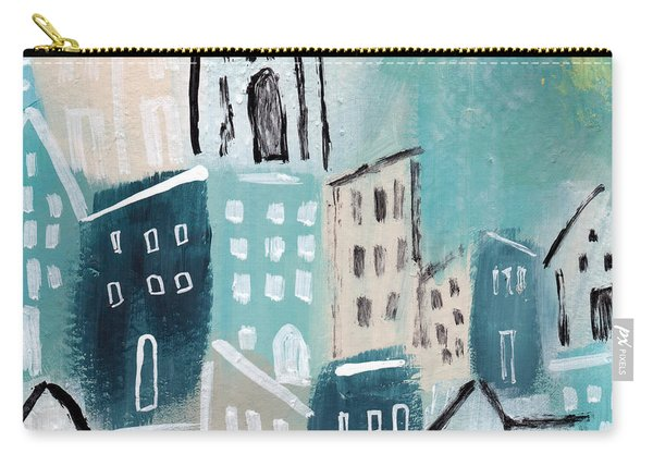 Beach Town- Art By Linda Woods Carry-all Pouch